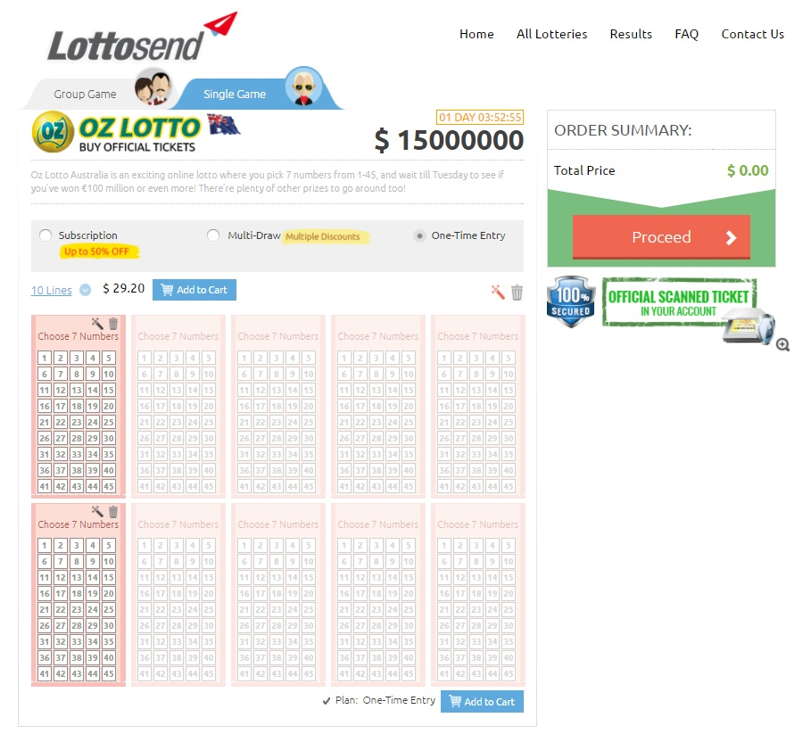 Play Oz Lotto Online - Lottosend.com